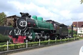 Museumsstück am Bahnhof von Chumphon