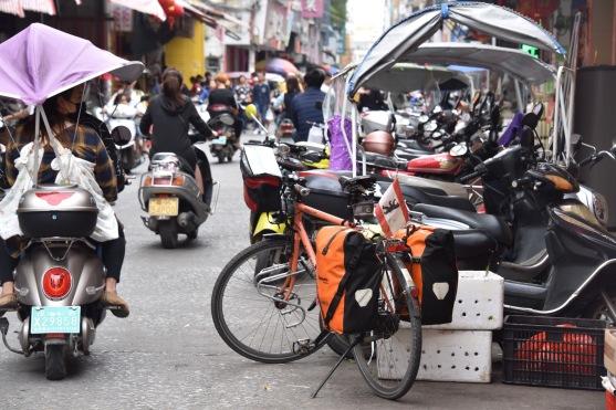 In der Innenstadt von Dianbai