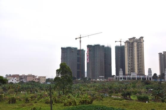Letzte Ausläufer der Stadt Jiangmen