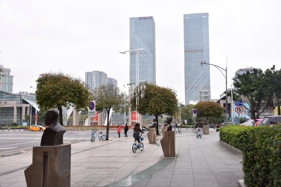 Zentraler Platz in Jiangmen