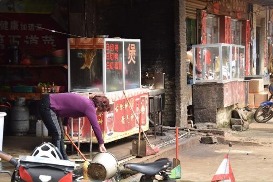Straßenküche in Tiaofeng