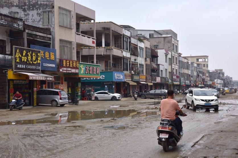 Baustelle nach dem Regen