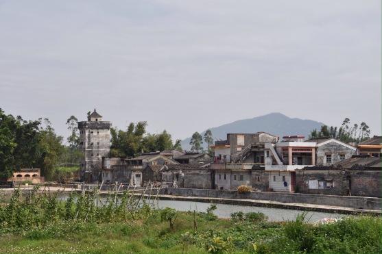 Das Dorf Nankeng, nordöstlich von Taishan